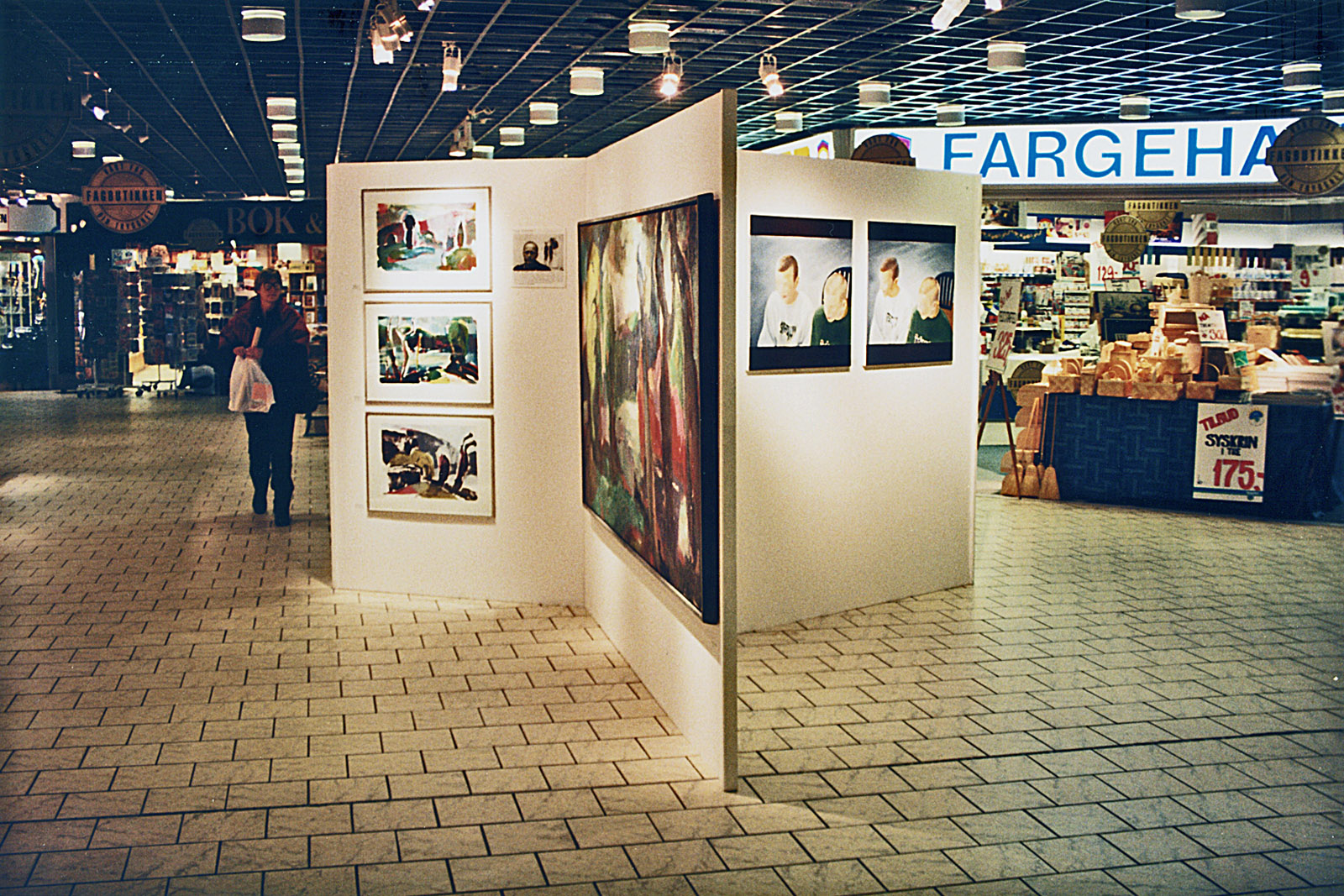 1996 photo curated exhibition Profesjon Kunstner