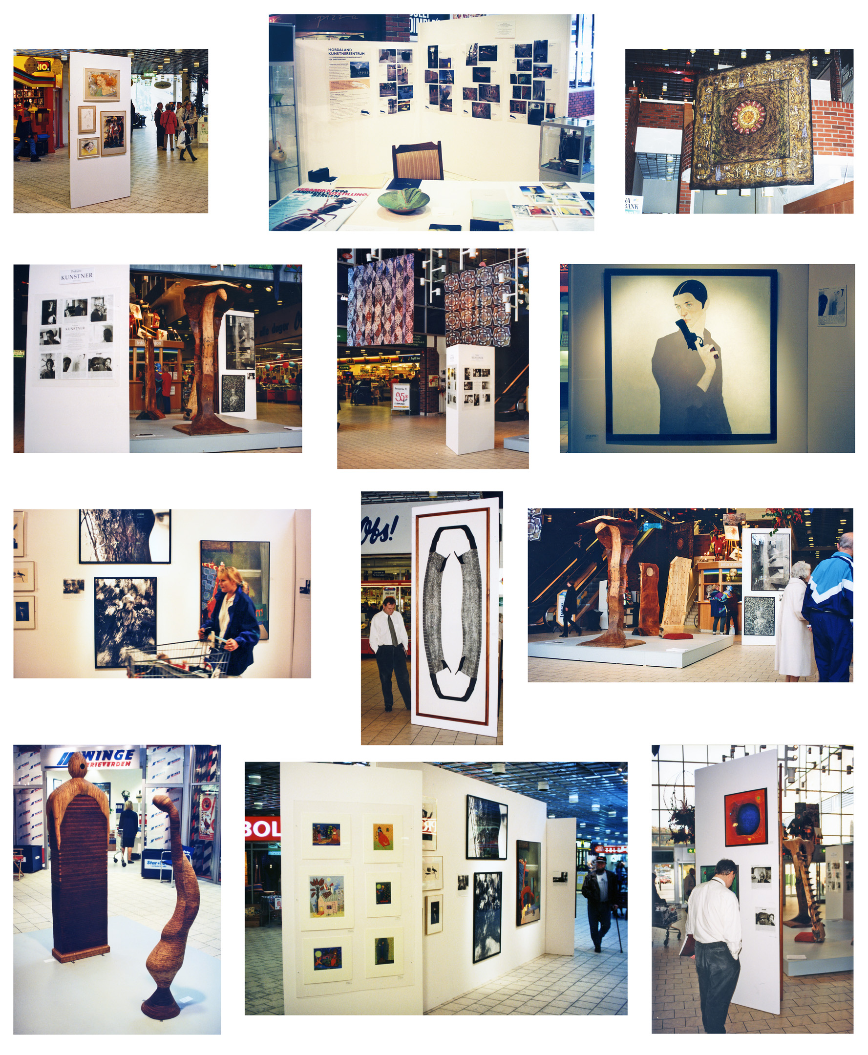1996 photos curated exhibition Profesjon Kunstner